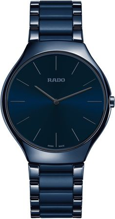 Rado Watch True Thinline Colour #add-content #basel-17 #bezel-fixed #bracelet-strap-ceramic #brand-rado #case-depth-5mm #case-material-ceramic #case-width-39mm #delivery-timescale-call-us #dial-colour-blue #gender-mens #luxury #movement-quartz-battery #new-product-yes #official-stockist-for-rado-watches #packaging-rado-watch-packaging #price-on-application #style-dress #subcat-true #supplier-model-no-r27261202 #warranty-rado-official-2-year-guarantee #water-resistant-30m