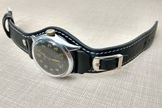 men's Armani watch Leather Cuffs, Leather Men, Armani Watches For Men, Watch Belt, Camera Straps, Vintage Watches, Leather Working, Watch Bands, Jewelry Watches