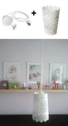 romantic lamp from ikea SKURAR lantern