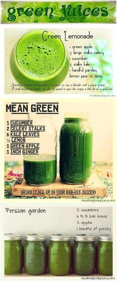 A few green juice recipes!