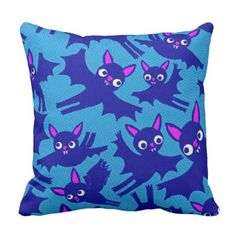 #cute - #Cute Flying Halloween Bats Throw Pillow