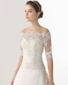 Simple Elegant A-Line Sweetheart Lace Sequins Brush Train Satin Wedding Dresses with Short Sleeves Jacket - Sleeves - Silhouette - Wedding Dresses