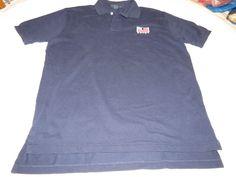Polo By Ralph Lauren Polo L RL Paint navy short sleeve Polo Shirt cotton EUC@ #PolobyRalphLauren #Polo