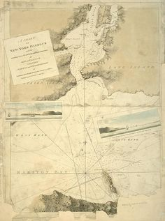 A chart of New York Harbour : with the soundings, views of l... | por New York Public Library