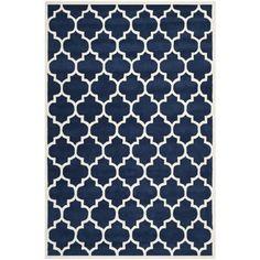 Safavieh Handmade Moroccan Chatham Dark Blue Wool Rug (6' x 9')