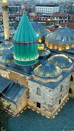 Mevlana konya TURKEY Mosque Architecture, Asian Architecture, Futuristic Architecture, Istanbul City, Istanbul Turkey, Beautiful Mosques, Beautiful Places, 7 Natural Wonders, Turkey Places