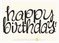 Text Design - Happy Birthday Curls :: Mariana Musa