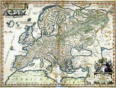 Euroopan muinaiset kansat. - ortelius 1595
