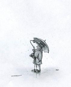 Shark in rain by ~RobtheDoodler on deviantART