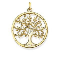 Thomas Sabo pendentif Tree of Love doré Argent . Gold Pendant, Pendant Jewelry, Bijoux Thomas Sabo, Meaningful Jewelry, Cut Out Design, Signet Ring, Jewelry Packaging, Plaque, Sterling Silver Jewelry