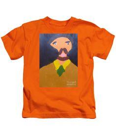 Patrick Francis Designer Kids Orange T-Shirt featuring the painting Portrait Of Eugene Boch - After Vincent Van Gogh by Patrick Francis