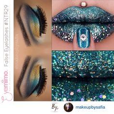 Happy Sunday!          Fantasy • Fabulous #lips and #eyemakeup by @makeupbysafia {wearing our #falseeyelashes style #NTR29}  Buy False Eyelashes at EYEMIMO.com
