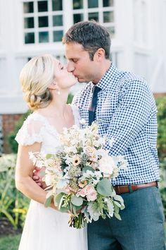 Kelly and Brett's Annapolis wedding at Kent Manor Inn.  wedding dress: Sarah Janks Brigitte, photographer: {a}strid photography