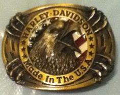 New Vintage Harley Davidson Belt Buckle -  Raintree