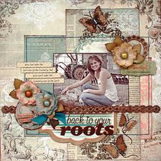 Roots **Scrapbooking and Beyond** - Scrapbook.com - Gorgeous page. #scrapbooking #layouts #bobunnypress