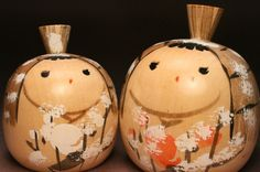 Yukinko Ningyo Kokeshi pair. These are very similar to a pair I was given by a Japanese lady at the age of eight which started my small collection