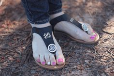 MONOGRAMMED jeweled sandals