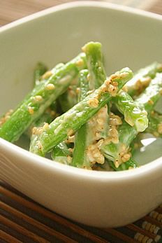 Ingen Goma Ae, Green Beans with Creamy Sesame Sauce, for Japanese Side Dish|インゲンの胡麻和え