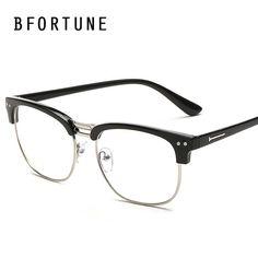 2c8e412957 BFORTUNE Fashion Vintage Glasses Frame Mens Women Brand Designer Eyeglasses  Retro Eyewear Clear Lens Oculos De