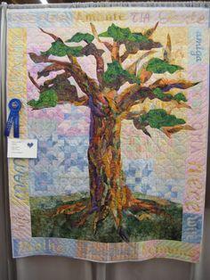 Tree of Hope art quilt - beautiful! this got a blue ribbon!! So iNSPIRING