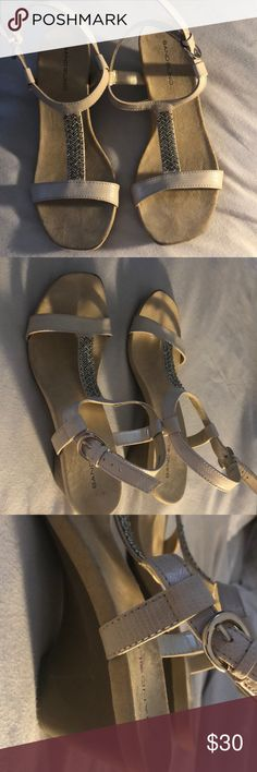 Nude Bandolino heels Almost new nude Bandolino heels: only worn once or twice Bandolino Shoes Sandals