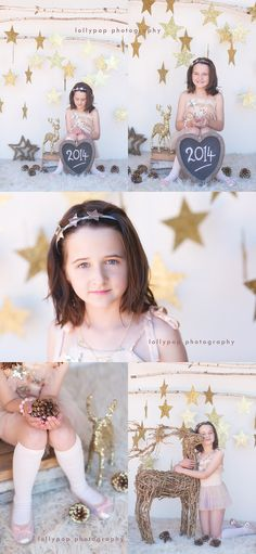 christmas photography mini session set gold and stars by lollypop photography
