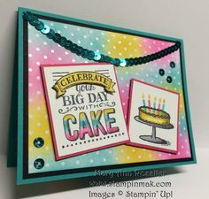 It's been a pretty cold and gray winter so far, so I decided to stick with more bright colors for today's card. The Stampin' Up! Only Challenges SUO#114 Theme this week is Dots, Dots, and More Dot...