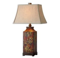 Uttermost-Grace Feyock, Colorful Flowers Table Lamp # 27678