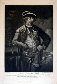 "Israel Putnam, Esqr. Major General of the Connecticut Forces, and Commander in Chief at the Engagement on Bunkers-Hill near Boston, 17 June 1775. Published:  London  1775 Medium:  Mezzotint Dimensions:  16 1/4 x 11 1/8"" J. Wilkinson pinx. Ioh. Martin Will excudit Aug. Vind. Published as the Act directs by C. Shepherd Sept. 1775. London."