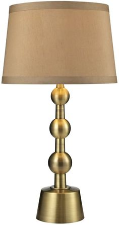 Save on Dimond Motpelier -Light 3-Way LED Table Lamp Aged Brass D2697-LED D2697LED   LampsUSA