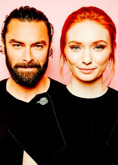 "Aidan Turner and Eleanor Tomlinson of BBC's ""Poldark"""
