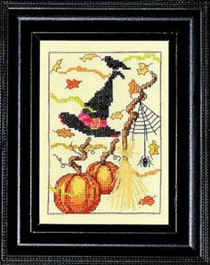 For The Witches Of Salem by Bobbie G Designs is a great halloween cross stitch pattern that is stitched with DMC threads.