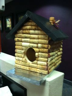 Wine Cork Bird House