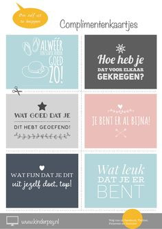 Complimentenkaartjes om zelf uit te knippen. Coaching, Kids Planner, Class Dojo, Kindness Quotes, Play To Learn, Quote Posters, Quotes For Kids, Growth Mindset, Early Learning