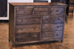 """James+James: Finished by hand at James+James, the 9 Drawer Dresser measures 50.5"""" x 18"""" x 36"""". *Due to high demand, this item is not available for delivery until at least July 19th"""