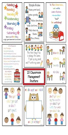 Classroom Freebies: 10 FREE Classroom Management Posters