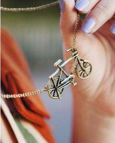 Vintage Bicycle Necklace - we love   (^▽^) http://www.wonderfulsnapbackswholesale.com this is adorable!