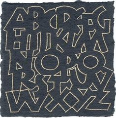 A wonderful alphabet by Carol DuBosch. I know this is a calligraphy alphabet, but I think it would be a lovely quilting pattern for a child's quilt.