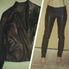 DIY Skinny Leather Pants..... add a little more leather at the top (removable or not) to make it high waisted