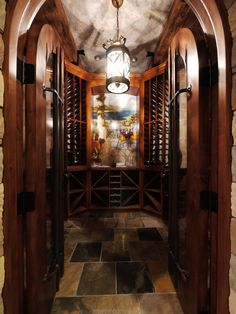Curved Top Door Wine Cellar