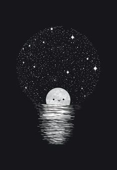 A reader lives a thousand lives before they die~ kawaii wallpaper, black wallpaper, Art And Illustration, Art Manga, Light Art, Stars And Moon, Cute Drawings, Cool Art, Art Photography, Street Art, Sketches