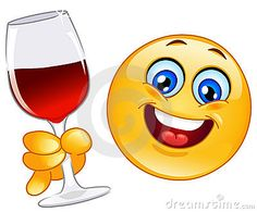 emoji with wine glass Wütender Smiley, Smiley Emoticon, Happy Emoticon, Funny Emoticons, Funny Emoji, Just Smile, Smile Face, Merci Gif, Naughty Emoji