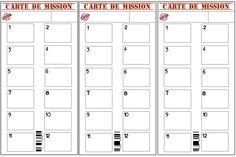 Carte de missions anniversaire thème agents secrets