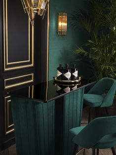 Furniture and lighting Home design Art Deco Bar, Art Deco Home, Home Design, Home Interior Design, Interior Decorating, Decorating Games, Design Ideas, Elegant Home Decor, Luxury Home Decor
