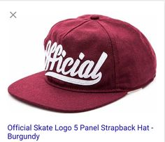 Official Skate Logo 5 Panel Strapback