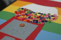 100th Day of School Project - bubble gum machine