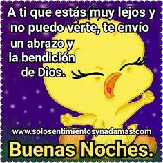 A ti que estás muy lejos y no puedo verte, te envío un abrazo y la bendición de Dios.