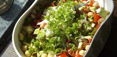 Avocado Tomato & Chickpea Salad