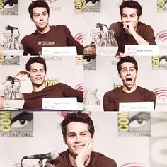 Okay! This is not fair! He is always being so freaking adorkable... He acts like a little dork all the time... And it makes me love to much more!!!!! Life is not when you have DYLAN FREAKING O'BRIEN walking on the earth acting super cute like 27/7... Oh how I love our little socially awkward dork... He is just so cute!