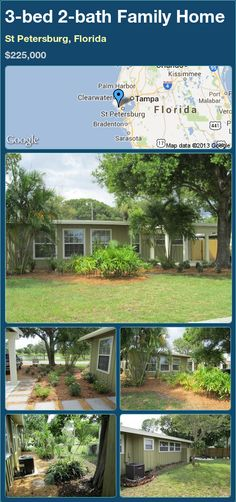 3-bed 2-bath Family Home in St Petersburg, Florida ►$225,000 #PropertyForSale #RealEstate #Florida http://florida-magic.com/properties/21554-family-home-for-sale-in-st-petersburg-florida-with-3-bedroom-2-bathroom
